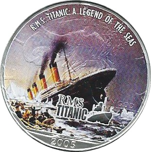 2005 1oz Silver Eagle – RMS Titanic – Disaster Strikes